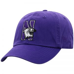 Northwestern University Wildcats Top Of The World Unconstructed Purple Twill Hat with N-Cat Design
