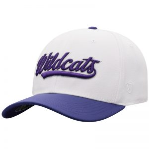 Northwestern University Wildcats Top Of The World Constructed Onefit Two Tone White/Purple Hat with Script Wildcats Design