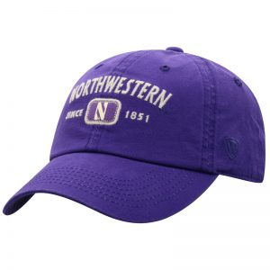Northwestern University Wildcats Top Of The World Garment Washed Purple Canvas Self Fabric Adjustable Intellect Hat