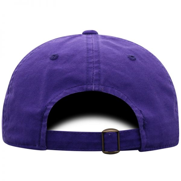 Northwestern University Wildcats Top Of The World Garment Washed Purple Canvas Self Fabric Adjustable Intellect Hat-Back