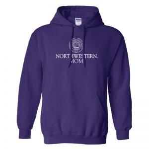 Northwestern University Wildcats Purple Hooded Sweatshirt With Mom Design