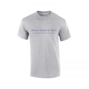 NW2647 NU Grey Short Sleeve Tee Shirt with Bienen School of Music Design