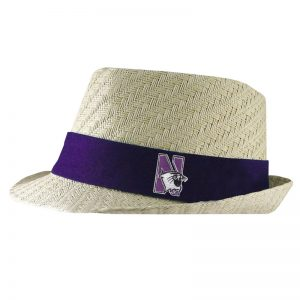 Northwestern University Wildcats Atlanta Geometric Weave Straw Fedora