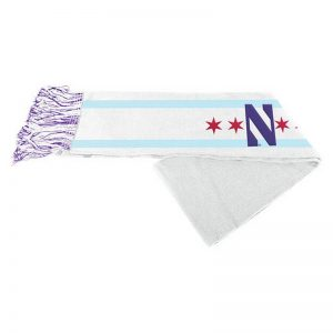 Northwestern University Wildcats Knit Scarf Of Chicago Flag with Stylized N Design