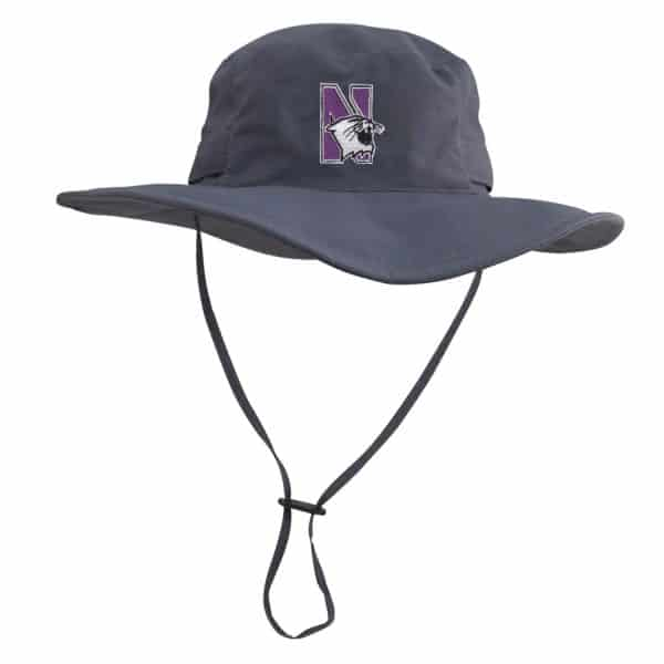 Northwestern University Wildcats Black Outback Boonie Hat With N-Cat Design