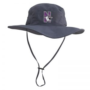 Northwestern University Wildcats Charcoal Grey Outback Boonie Hat With N-Cat Design