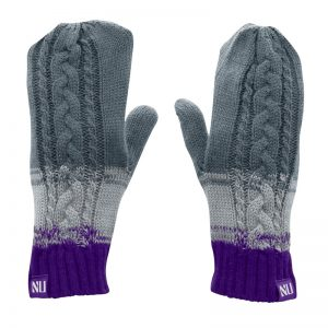 Northwestern University Wildcats Ladies Mittens With a Small NU Design