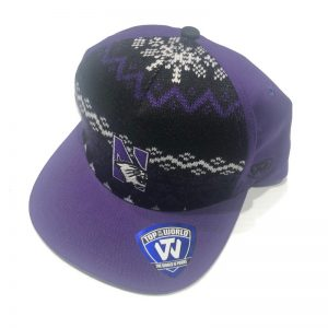 Northwestern University Wildcats Adjustable Snapback Christmas & Holiday Inspired Hat With N-cat Design