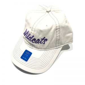 Northwestern University Wildcats Ladies White Hat With Script Wildcats Design