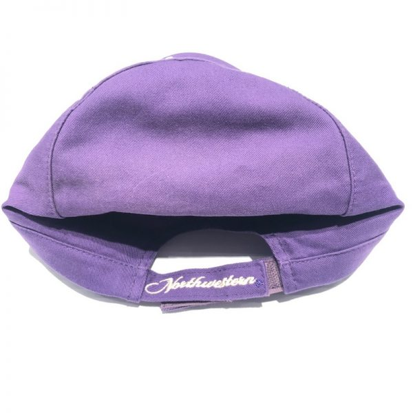 Northwestern University Wildcats Ladies Purple Velcroback Hat with Stylized N and Rose Design-3