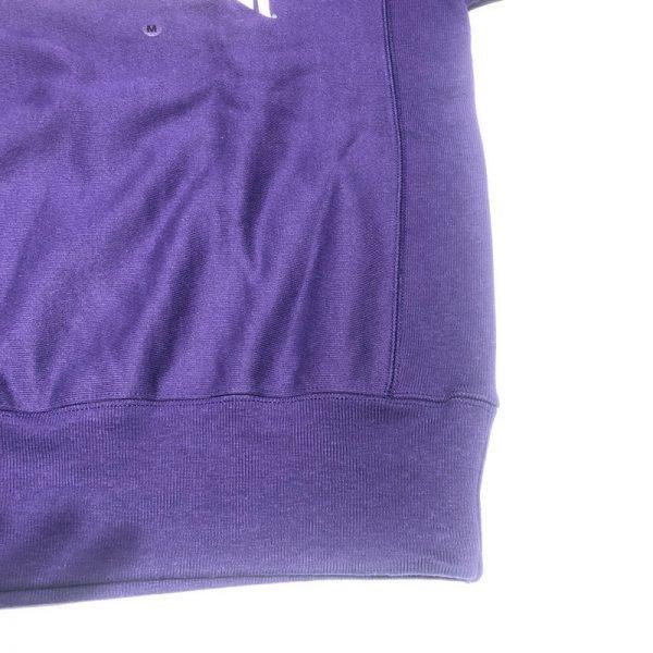 Northwestern University Wildcats Men's Purple Champion Super Heavy Reverse Weave Crewneck Sweatshirt with Creamy White Arched Northwestern Wool Sewn Appliqué Design -3