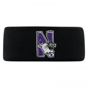 Northwestern University Wildcats Black Knit Headband with N-Cat Design