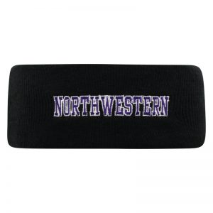Northwestern University Wildcats Black Knit Headband with Northwestern Design