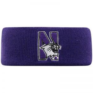 Northwestern University Wildcats Purple Knit Headband with N-Cat Design