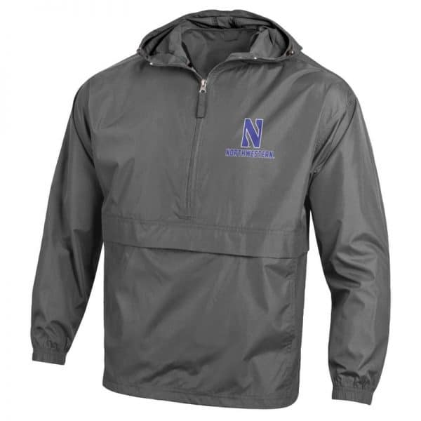Northwestern University Wildcats Champion Men's Graphite Packable Jacket