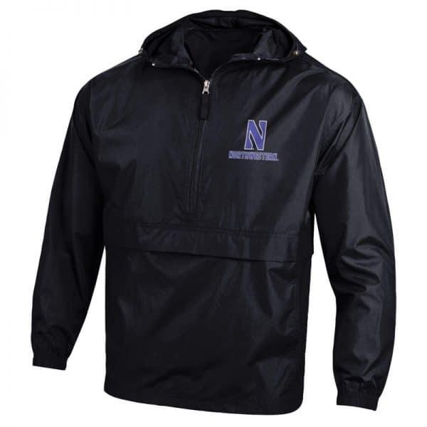 Northwestern University Wildcats Champion Men's Black Packable Jacket