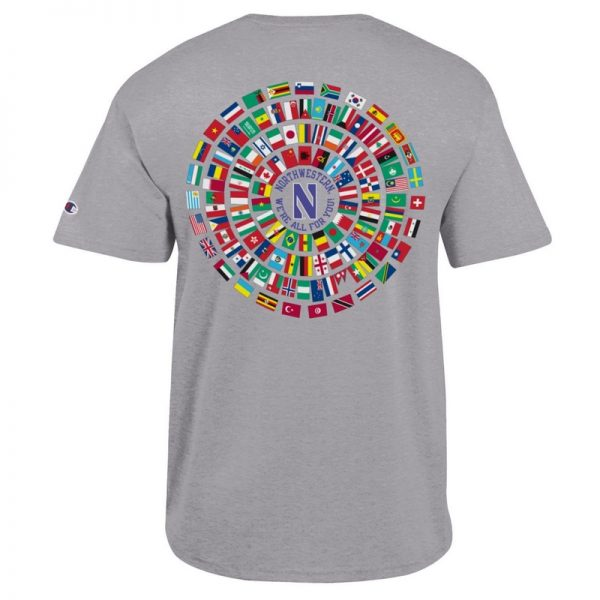 Northwestern University Wildcats Champion Men's Tee With So Many Faces So Many Places Design-2