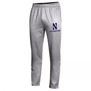 Northwestern University Wildcats Champion Men's Oxford Heather Field Day Fleece Pant With Stylized N over Northwestern Design