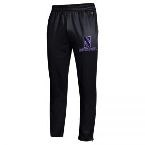 Northwestern University Wildcats Champion Men's Black Field Day Fleece Pant With Stylized N over Northwestern Design