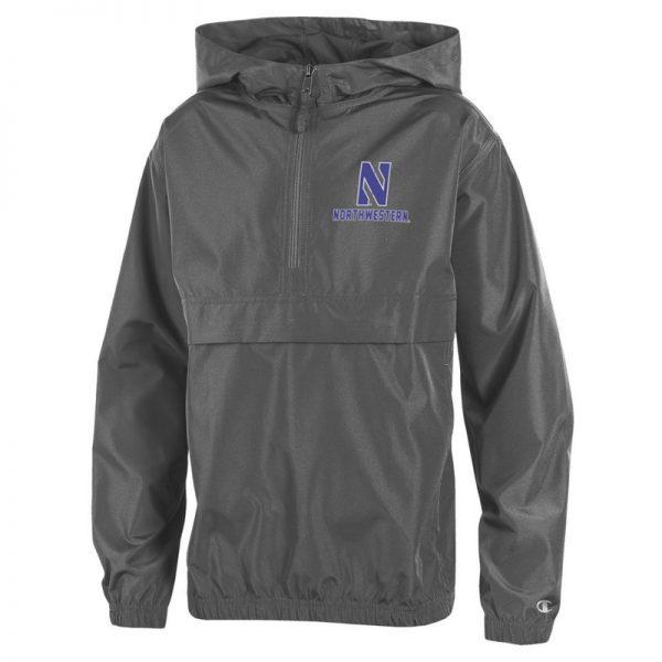 Northwestern University Wildcats Champion Youth Graphite Packable Jacket