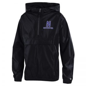 Northwestern University Wildcats Champion Youth Black Packable Jacket