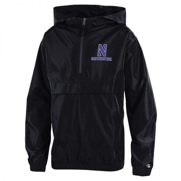 Northwestern University Wildcats Champion Youth Black Packable Jacket