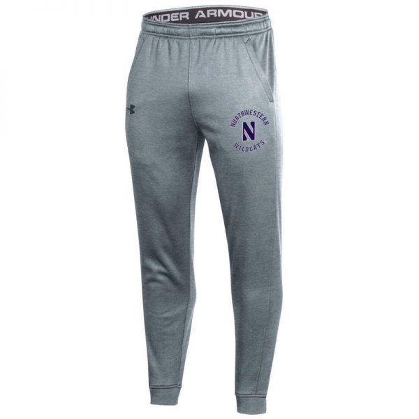 Northwestern University Wildcats Men's Under Armour True Grey Heather Armour Fleece Pants