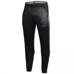 Northwestern University Wildcats Men's Under Armour Black Armour Fleece Pants