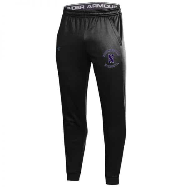Northwestern University Wildcats Men's Under Armour Black Armour Fleece Pants