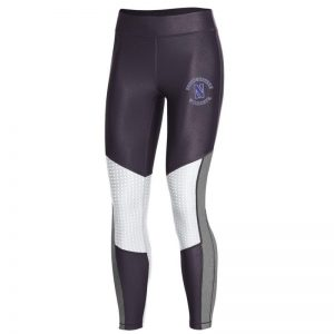 Northwestern University Wildcats Ladies Under Armour Carbon Heather/Onyx White Pocket Crop Pants