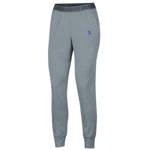 Northwestern University Wildcats Ladies Under Armour True Grey Heather Play Up Pants