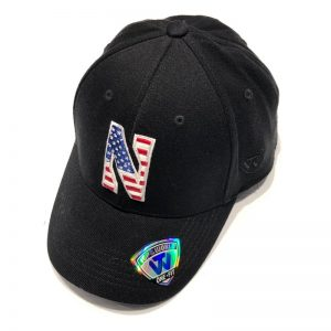 Northwestern University Wildcats Constructed Black Hat With US Flag Inspired Stars & Stripes Stylized N Design