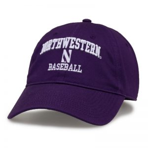 Northwestern University Wildcats Unconstructed Purple Cotton Twill Hat with Softball Design