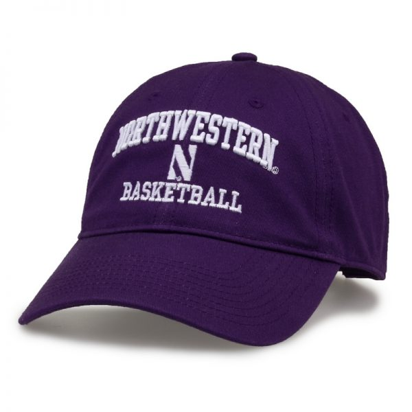 Northwestern University Wildcats Unconstructed Purple Cotton Twill Hat with Basketball Design