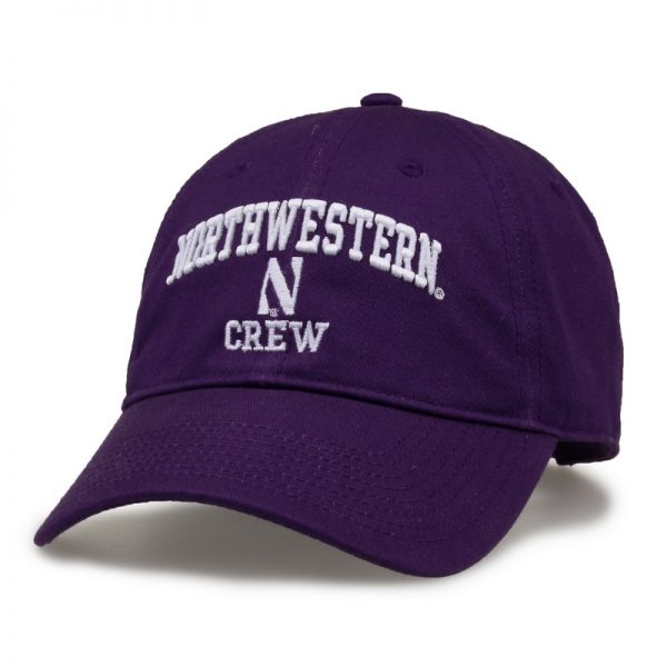 Northwestern University Wildcats Unconstructed Purple Cotton Twill Hat with Crew Design