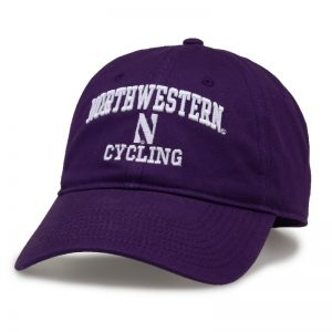 Northwestern University Wildcats Unconstructed Purple Cotton Twill Hat with Cycling Design