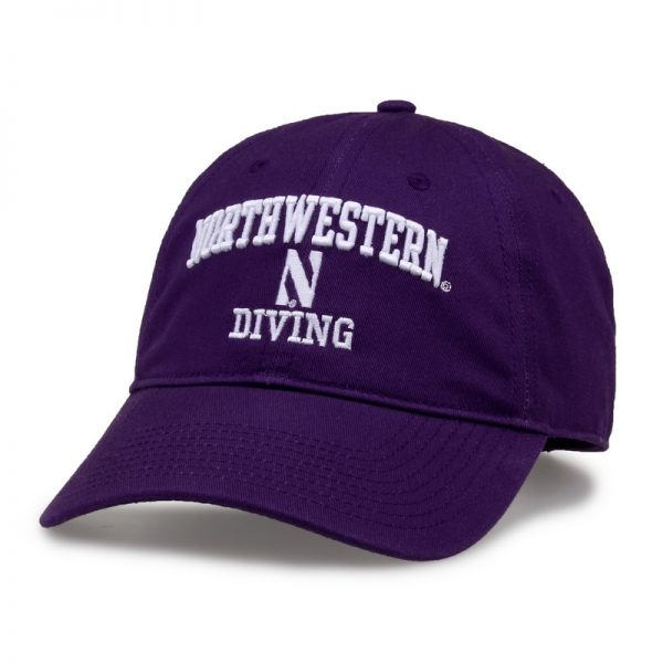 Northwestern University Wildcats Unconstructed Purple Cotton Twill Hat with Diving Design