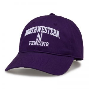 Northwestern University Wildcats Unconstructed Purple Cotton Twill Hat with Fencing Design