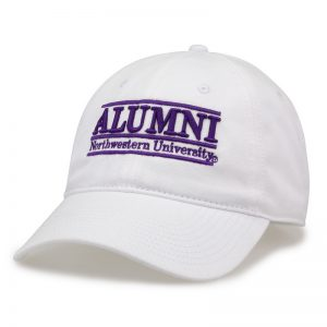 Northwestern University Wildcats Unconstructed White Cotton Twill Hat with Alumni Bar Design