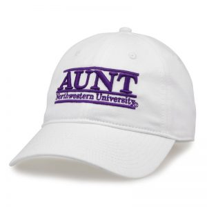 Northwestern University Wildcats Unconstructed White Cotton Twill Hat with Aunt Bar Design