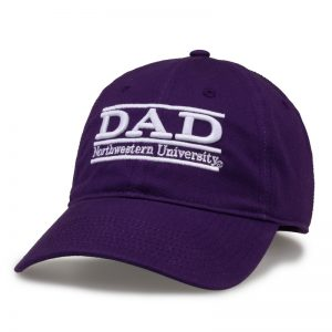 Northwestern University Wildcats Unconstructed Purple Cotton Twill Hat with Dad Bar Design