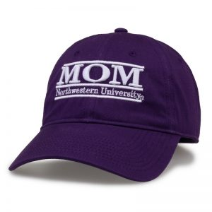 Northwestern University Wildcats Unconstructed Purple Cotton Twill Hat with Mom Bar Design