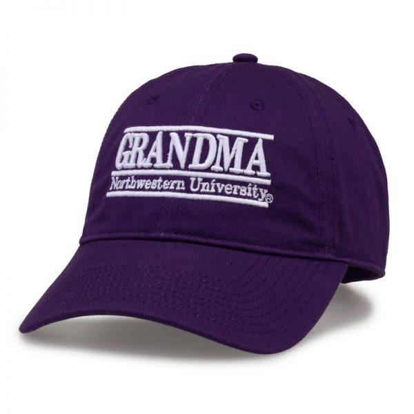 Northwestern University Wildcats Unconstructed Purple Cotton Twill Hat with Grandma Bar Design