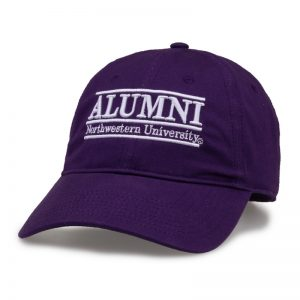 Northwestern University Wildcats Unconstructed Purple Cotton Twill Hat with Alumni Bar Design