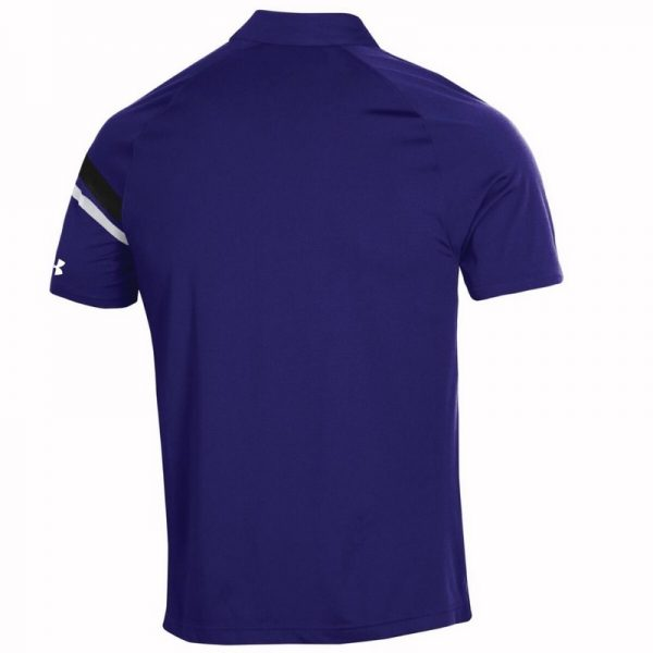 Northwestern University Wildcats Men's Under Armour Tour Drive Purple Sideline Polo shirt -2
