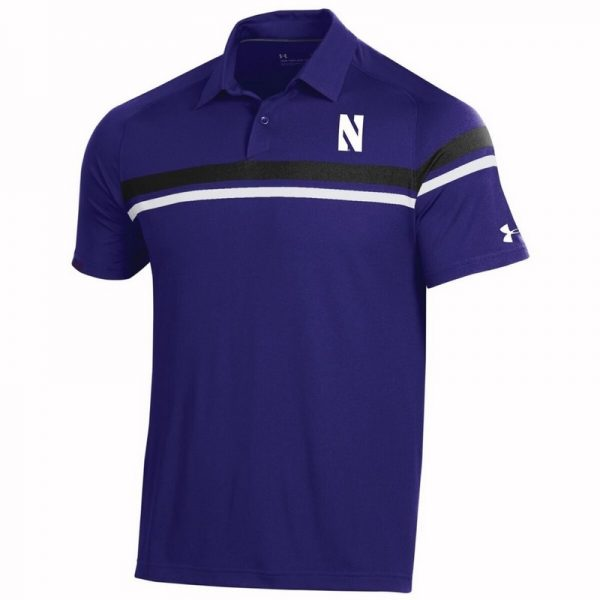 Northwestern University Wildcats Men's Under Armour Tour Drive Purple Sideline Polo shirt