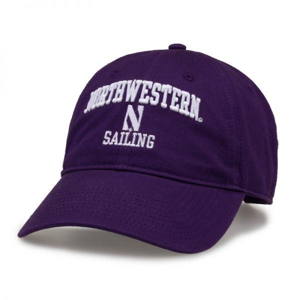 Northwestern University Wildcats Unconstructed Purple Cotton Twill Hat with Sailing Design