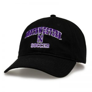 Northwestern University Wildcats Unconstructed Black Cotton Twill Hat with Basketball Design
