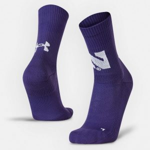 Northwestern University Wildcats Adult Under Armour Purple Unrivaled Crew Sock