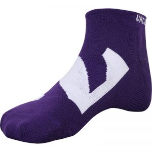 Northwestern University Wildcats Under Armour Purple No Show Sock With Oversized Stylized N Design